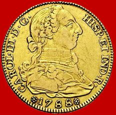 Spain - Carlos III (1759 - 1788), doubloon of 4 gold escudos. Madrid, 1788.