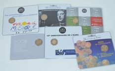 France - 2 Euro commemorative coins 2008/2012 (6 different)