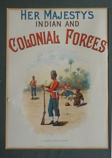 Her Majesty's Indian and Colonial Forces - series existing of 16 litho's
