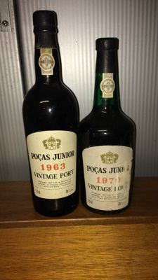 1963 & 1970 Vintage Port Pocas Junior - 2 flessen