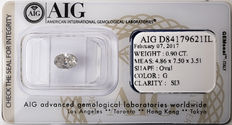 AIG Sealed 0.90  ct Loose Oval cut diamond G colour,  SI3   ** Low Reserve **