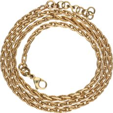 Yellow gold 14 kt link necklace – Length: 45.6 cm