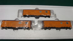 Marklin H0 - 45680 - Reeferset: 3 goods wagons (freight wagons) Pacific Fruit Express