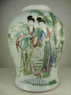 Large baluster vase - China - approx. 1920