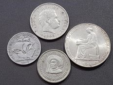 Portugal – Lot of 4 silver coins – From 1903 to 1960