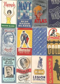 Collection of 72 razor blades international collection---11/12