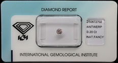 0.20 ct Fancy Brownish Pink Diamond – NO RESERVE