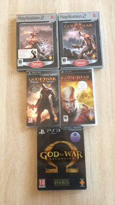 God of war collection 5 games (ps2 , psp en Ps3)