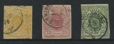 Luxembourg 1859/1863 - Selection Weapons - Yvert 5 inspected Demuth BPP, 7, 10