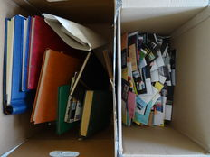 World - batch in 11 stock books/albums and loose material