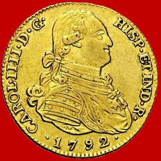 Spain - Carlos III (1788 - 1808), doubloon of 4 gold escudos. Madrid, 1792.