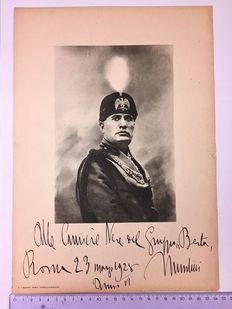 Printed Image of the Duce Benito Mussolini