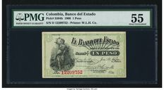 Columbia - Banco Del Estado - 1 Peso 1.10.1900 - Pick S504b