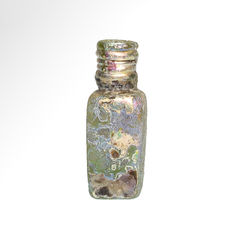 Byzantine, East Mediterranean, Glass Unguentarium Bottle, 5.7 cm H