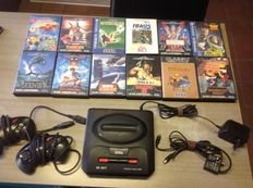Sega - 16-bit - Mega Drive II + 12 games - Ottifants, Shinobi, Ecco, etc