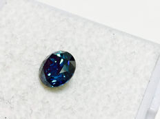 Blue Diamond - VVS2 - Brilliant Cut - 0.65 ct - without reserve price