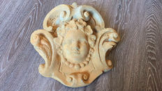 A Baroque style gypsum ornament, France, mid 20th century