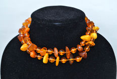 Baltic amber necklace in butterscotch/ honey colour, 49 gram