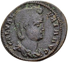 Roman Empire - AE Follis of Galeria Valeria, wife og Galerius, died 315 AD, Cyzicus 308-309.