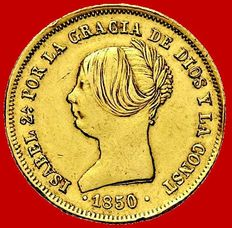 Spain – Isabel II (1833–1868), doubloon of 100 reales Madrid – 1850 – Gold