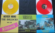 Nirvana - Great lot of 3 limited LP's of which 2 on coloured vinyl * Never Mind The Bollocks Here's Nirvana / Fifteen / Aneurysm (Live San Diego 1994)