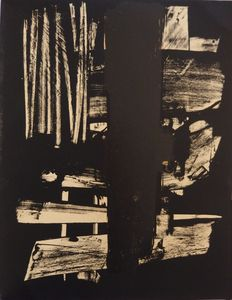 Pierre Soulages - Lithographie n°9