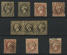 Luxembourg 1852 – King Willem III – 1e emission with strip of 3