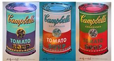 Andy Warhol - 3 x Campbell's Soup Can (Tomato, 1965)