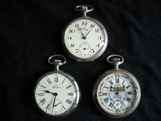 Three watches, 2 Perseo and 1 Sigel 1900-1960, Switzerland