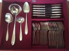 Cutlery case with 38 pieces, WMF Germany, ca 1950