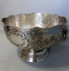 Old Sheffield silver plated glass/wine cooler, 2nd half of 19th century