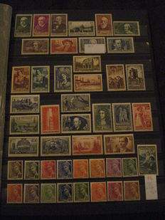 France 1936/1948 – Collection of stamps – between Yvert n° 334 et 827.