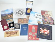 Great Britain / Marshall Islands / Ireland / Somalia – Various coin sets (12 pieces) – including gold plated/silver