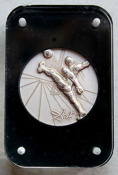 "Salvador Dali - fine silver medallion ""Football World Championship 1986 in Mexico"""