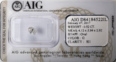 AIG Sealed 0.52 ct Loose Oval cut diamond  G Color , SI1   ** Low Reserve **