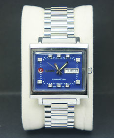 Rado Manhattan 1968's Automatic 25 jewels, men's watch, blue dial