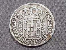 Portugal – 200 Reis silver coin – Don Jose I – Year 1764