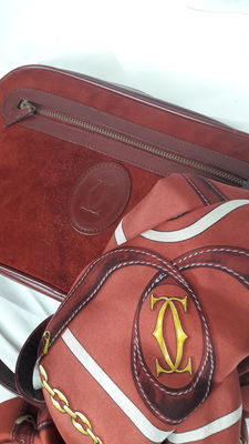 Cartier matching bag and scarf