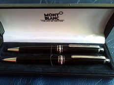 Montblanc Meisterstück Black Precious Resin Set, Montblanc 164 Ballpoint , Montblanc 165 Mechanical Pencil