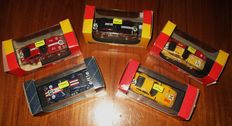"Top Model Collection - Scale 1/43 - Lot with 5 model cars: 5 x  Ferrari 365GTB/4 ""Daytona"" Le Mans"