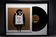 Banksy Art Cover Lp Laugh Now Keep it - Real Brown Edition