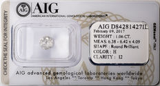 AIG Sealed 1.06  ct Loose Round brilliant cut diamond H colour,  I2   ** Low Reserve **