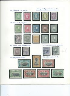 Belgian Congo 1886/1960 - advanced collection on sheets.