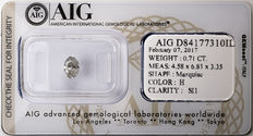 AIG Sealed 0.71  ct Loose Marquise cut diamond H colour,  SI1   ** Low Reserve **