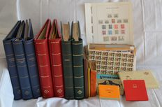 World 1840/1980 - doublet batch with, among others, 2 albums Switzerland in collection sheets.