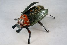 Lehmann, Germany - Length 10 cm - Tin Beetle 431 with clockwork motor, 1910/1920