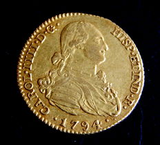 Spain - Carlos IV - Doubloon of 2 Escudos - 1794 - Madrid MF - Gold