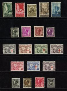 Belgium 1934 - Complete year with Knight - OPB 284/403