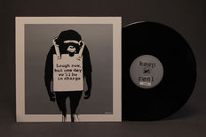 Banksy Art Cover Lp Laugh Now Keep it Real - Silver Edition