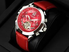 Calvaneo 1583 Astonia Platinum Deep Red – Men's automatic wristwatch – 2017 collection – New